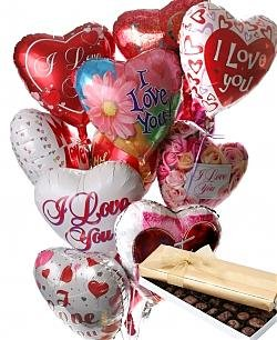 Romantic Valentine Day Balloons